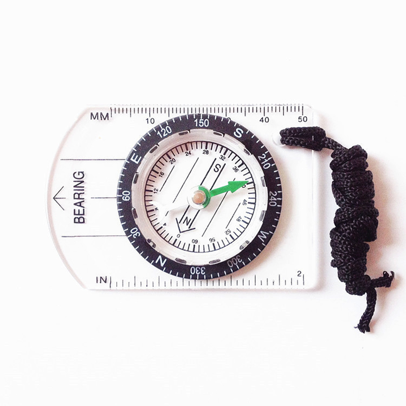 LumiParty Professional Mini Compass Map Scale Ruler Multifunctional Equipment Outdoor Hiking Camping Survival Bussola Brujula
