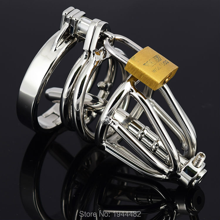 Short Chastity Belt Stainless Steel Male Chastity Device Penis Sleeve Sex Toys Sex Products Metal Adult Game For Men 2017 new ccb male chastity belt panties abstinence stainless steel chastity device penis cage metal bdsm sex products for men