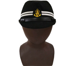 HAT Military-Field-Cap WW2 WWII IN Black-Color NAVY OFFICER Sizes-World JAPANESE
