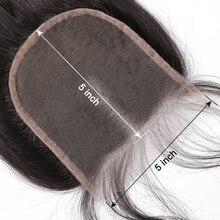 Instaone Hair 5x5 прямой парик с пробором посередине человеческих волос натуральный цвет бразильские девственные волосы отбеленные узлы с детскими волосами