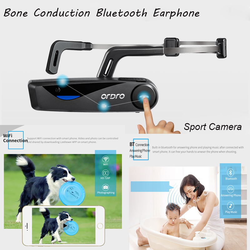 Head Band Bone Conduction Bluetooth Headset Hands free Wireless Bluetooth Headphones Earphone Wifi Camera HD Mini Sport Cameras maximumcatch 5wt 9ft fly fishing outfit fly rod fly fishing combo