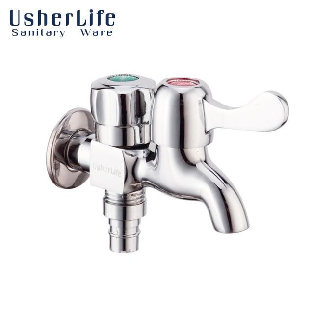 Usherlife Chrome Brass Washing Machine Faucets Bathroom Laundry ...