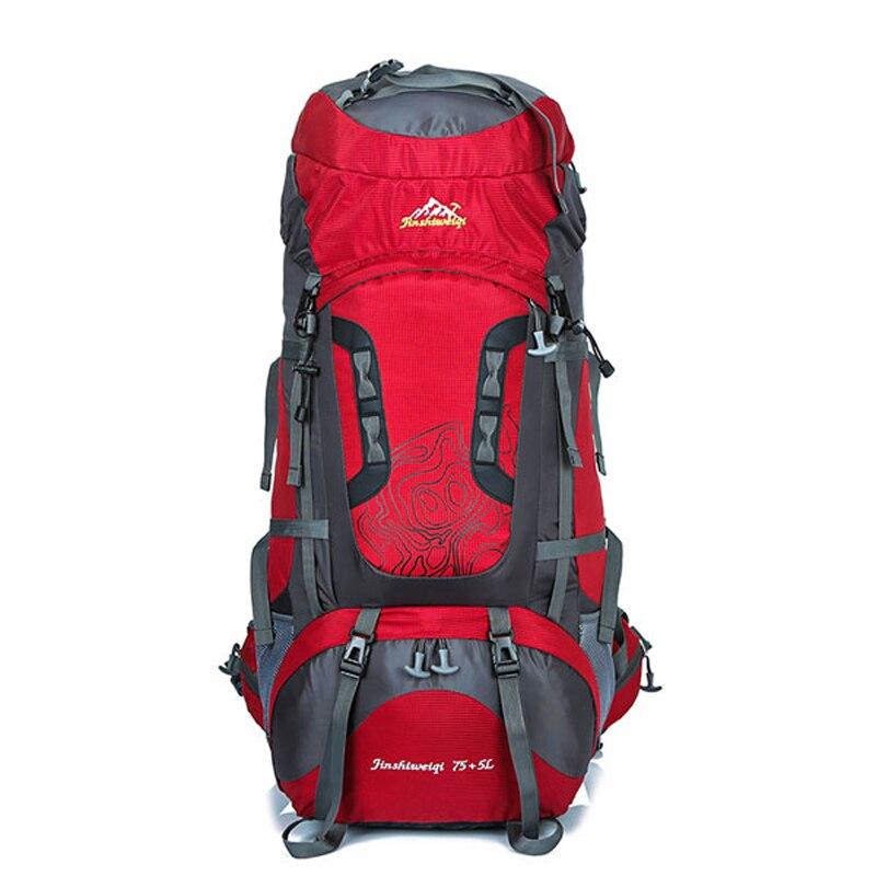 80L waterproof outdoor hiking backpack camping mochila travel rucksack climbing sports bag pack women men цена