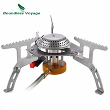 Boundless Voyage 3500W Split Type Gas Stove Camping Portable Burner With Igniter Outdoor Cookware  BV1002