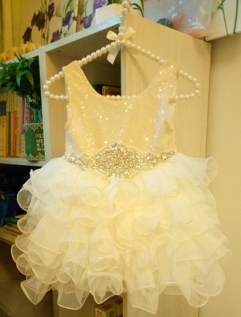 Retail  new 2017 Girl's sequins TUTU dress  , princess dress , dress girls , girl summer dress, ILY8