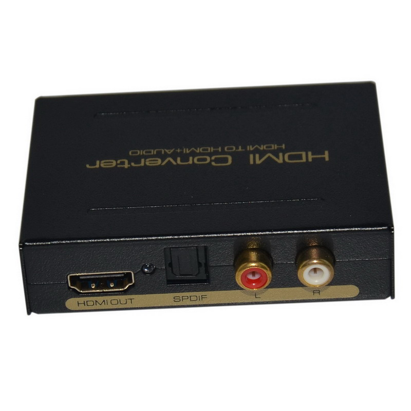 Kaycube High Quality 2 Port HDMI Audio Extractor HDMI Optical Spdif Toslink + L / R Converter Stereo Analog Audio Extractor EU