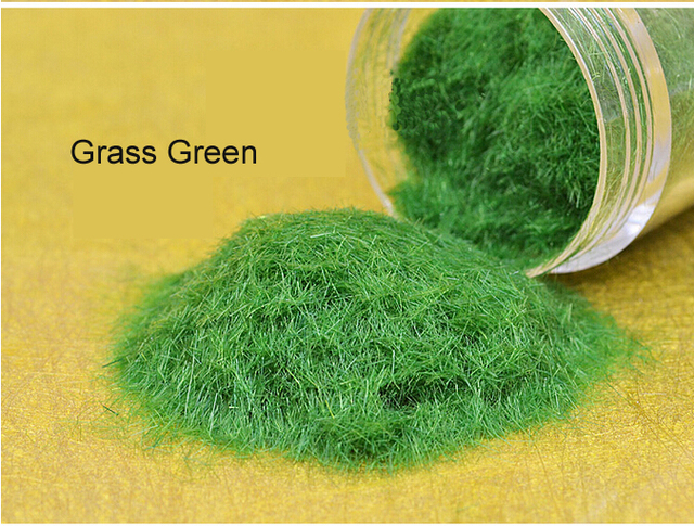 US $12 5 |DIY manual outdoor landscape construction sand table model  material turf lawn grass green nylon powder 100g-in Model Building Kits  from Toys