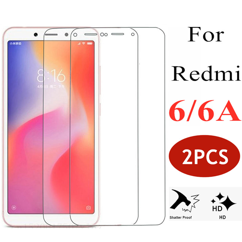 US $1 98 10% OFF|2PCS For xiaomi redmi 6 a cam tempered glass screen  protector ksiomi xiaomei remi 6a protective a6 film siomi redmi6 glas  sheet-in