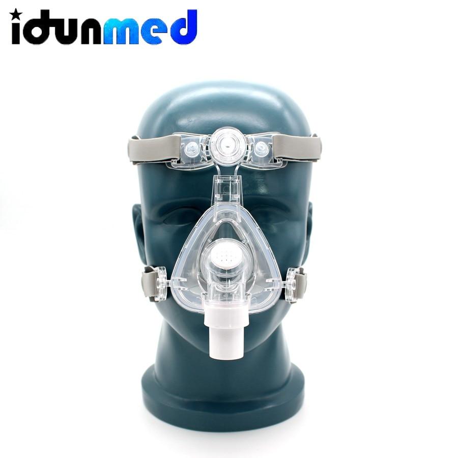 Idunmed CPAP Mask NM5 Nasal Mask With Adjustable Straps Headgear Breathing Maskesi For Sleep Apnea Nasal Anti Snoring Treatment