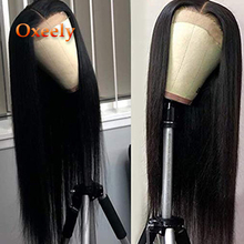 Oxeely Long Straight Lace Front Wigs Heat Resistant Fiber Ha