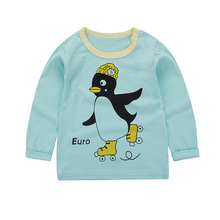 2019 new baby boy clothes t shirt long sleeve kidsT-shirt quality 100% cotton children cartoon bird clothes  girls tops children clothes long sleeve strawberry patten 100