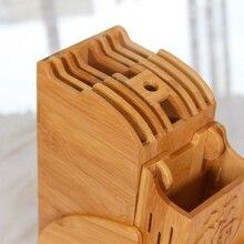 Creative Kitchen Wood Knife Holder For Chopsticks Fork Scissors Storage Rack Bamboo Knife Block Stand Storage Tool