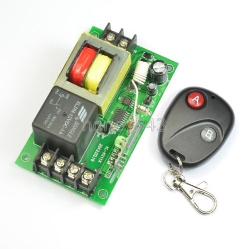 ФОТО NEW Smart Home Controller AC220V 50A 1CH RF Wireless Remote 315MHz And 433MHz