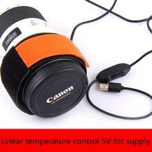 5V teleskoplar kamera DSLR Lens çiğ ısıtıcı şerit doğrusal sıcaklık kontrolü çiğ ısıtıcı
