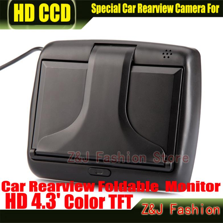 """Image 5 - Hot! 4.3"""" TFT LCD Color Monitor car dashboard safety monitoring of Auto Reversing Parking Foldable Camera Rearview Monitor-in Vehicle Camera from Automobiles & Motorcycles on AliExpress"""