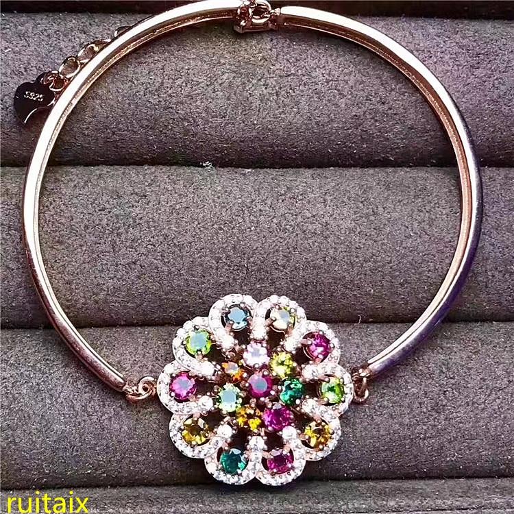 KJJEAXCMY fine jewelry s925 Pure silver and natural tourmaline bracelet wholesale jewelry.KJJEAXCMY fine jewelry s925 Pure silver and natural tourmaline bracelet wholesale jewelry.