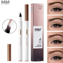MILEMEI Brand Eyebrow Pencil 4 Tip Brow Microblading Pen Waterproof Fork Tattoo Eye
