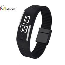 MALLOOM watch men military watches sport wristwatch Sports Bracelet Digital Silicone watch women 2017 brand Relojes de mujer #YH