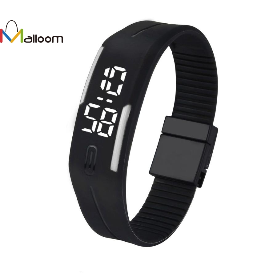MALLOOM watch men military watches sport wristwatch Sports Bracelet Digital Silicone watch women 2017 brand Relojes de mujer #YH дубравия светильник настенно потолочный полина 197 23 21
