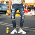 2017 slim jeans man ripped jeans for men american apparel skinny jeans male pants pantalones mujer Fashion Style Big Hole Jeans