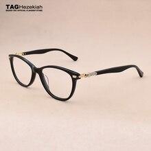 Montura de gafas de ojos de gato para mujer, montura de gafas de Ojos de gato para mujer, estilo de decoración de diamantes de imitación, gafas ópticas, gafas de ordenador, marcos de gafas para mujer 2019