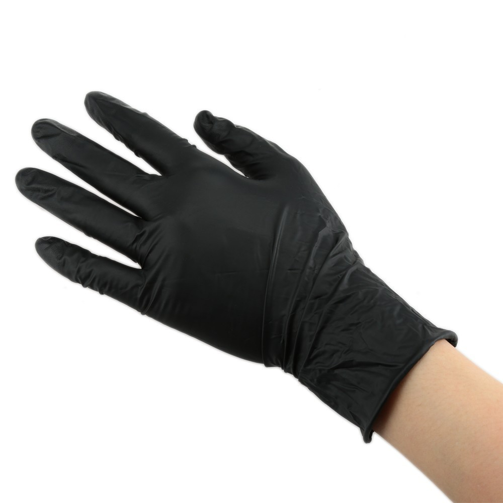 100pcs Tattoo Soft Nitrile tattoo gloves black medium for Disposable Latex Gloves Available Size Accessories Free Shipping 7