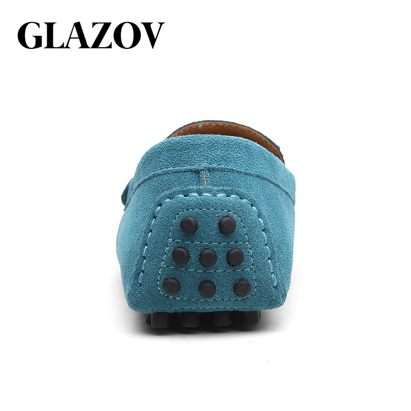 GLAZOV Fashion Men Loafers Men's Casual Shoes Suede Leather Moccasins Masculino Breathable Slip on Boat Shoe Chaussures Hommes 3