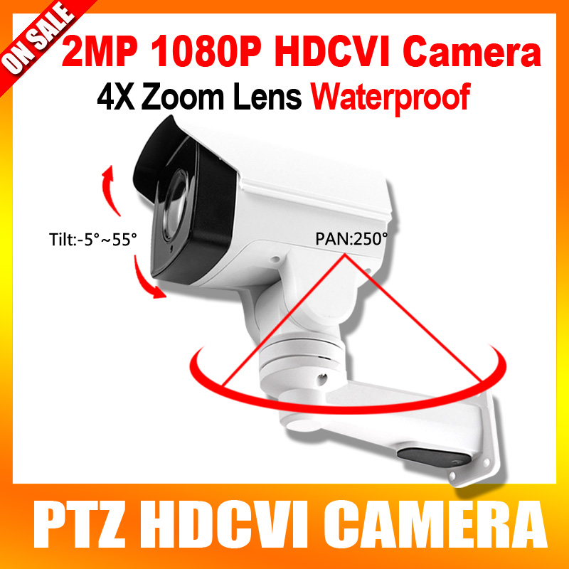 HD Security CCTV 1080P Mini Bullet PTZ HD CVI Camera 2MP 4X Zoom Manual Lens Pan/Tilt Rotation Outdoor IR Night Vision hd cvi array ir outdoor bullet security camera 6mm lens 1 0 mp night vision