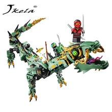 [Jkela] 592 шт. Серия фильмов Flying NinjagoINGly Дракон. Модельные блоки игрушек для детей. Совместимость с LegoINGly NinjagoINGly