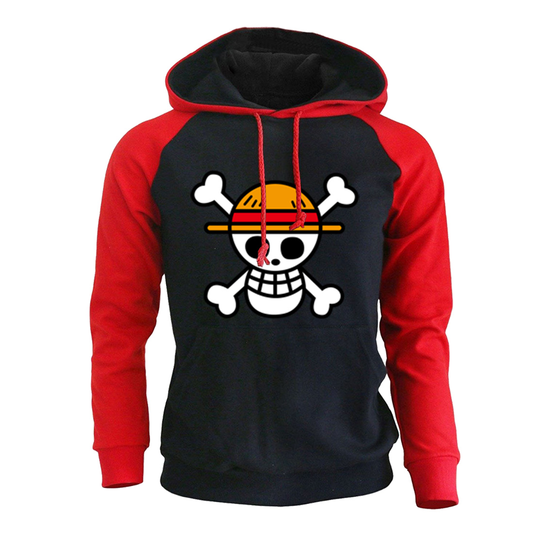 One Piece Luffy Cartoon Print Hoodie Sweatshirts 2019 Autumn Winter Men Hoodies With Cap Anime Harajuke Men's Hoody Pullover