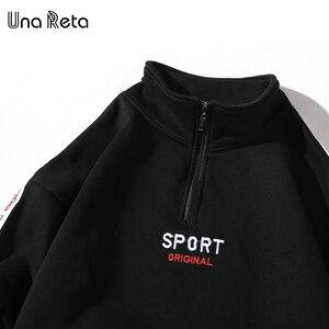 Image 5 - Una Reta Men Hoodies New Hip Hop Zipper Design Sweatshirt Embroidery high quality Streetwear Cotton Retro Pullover Tracksuit Men