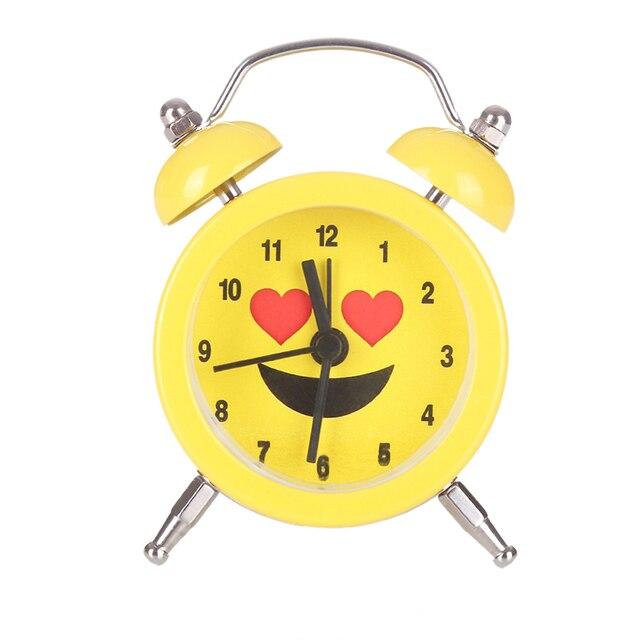 Portable Cute Mini Battery Alarm Clock Desktop Table Bedside Clocks Decoration for bedroom office