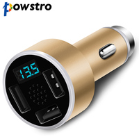 Powstro 3 In 1 Aluminium 3 USB Car Charger Stainless Steel Emergency Hammer Fatigue Driving Voice