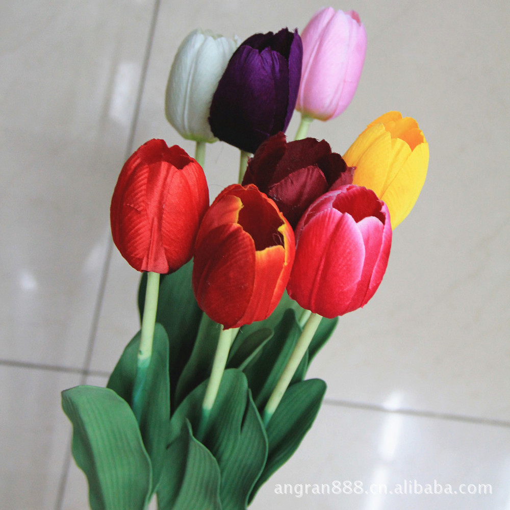 Factory Direct Sales Champion Single Tulips Artificial Flowers
