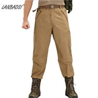LANBAOSI Men's Tactical Military Pants  Quick-drying Camouflage Climbing Hiking  Waterproof  Windproof  Breathable Pant