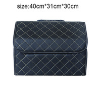Car Trunk Box Storage Bag Organizer Foldable PU Leather Auto Durable Collapsible Cargo Storage Stowing Tidying