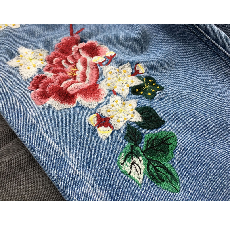 Mom Jeans Pantalon Femme Brand Femme Jeans With Embroidery Flower - Women's Clothing - Photo 6