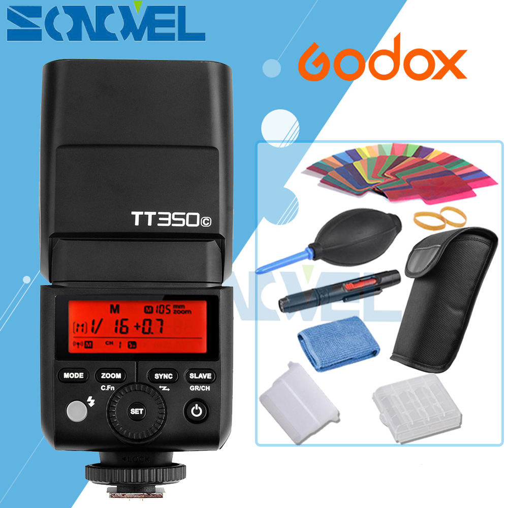 GODOX Mini TT350C TTL HSS max 1/8000s 2.4G Wireless X System Flash for Canon EOS 1300D 800D 760D 750D 80D 77D 7D 6D 5D Mark III yongnuo yn568ex iii wireless ttl sync 1 8000s hss flash speedlite for canon 1dx 1ds 5d mark iii iv 70d 80d 7d 6d 700d 750d