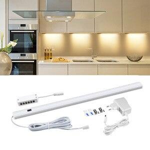 Image 1 - LED Bar light 5W/6W/7W Hand Sweep Sensor Switch Kitchen Light DIY Home Under Cabinet 12V LED Tube Hand Scan Motion LED Lamp