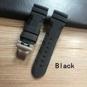 Image 5 - Whatchband Correa de silicona para reloj, correa de reloj negra, azul o naranja, roja, gris y verde de 24 y 26mm, con hebilla de mariposa y grabado
