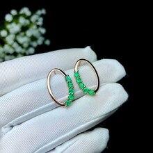 Fidelity, натуральный, 3 мм, изумруд, s925 серебро, серьги-гвоздики, модные, хорошее ювелирное изделие для женщин, натуральный зеленый драгоценный камень