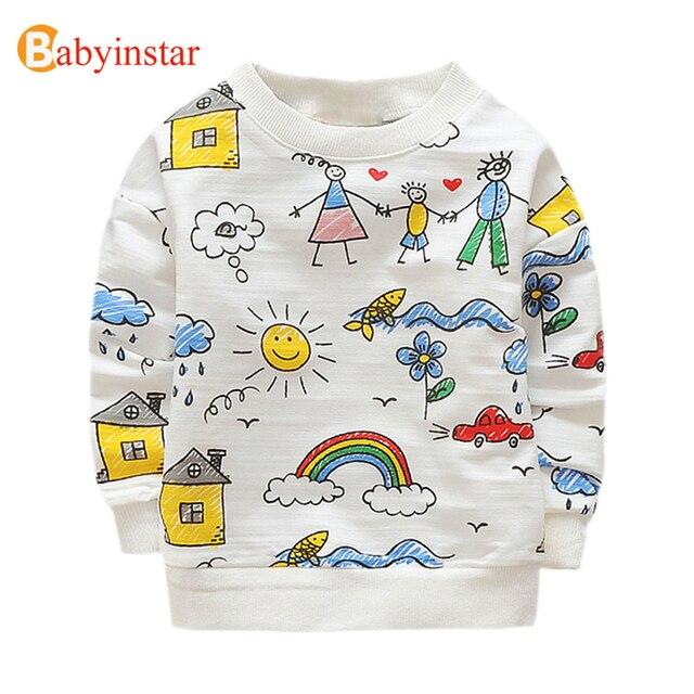 f38065b931502 Babyinstar/белая футболка для мальчиков и девочек, футболки с принтом,  семейные топы с