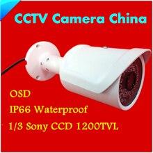 CCTV Камеры Sony CCD 1200TVL HD 1/3 ИК МИНИ Камеры Крытый/Открытый Водонепроницаемый 36 СВЕТОДИОДОВ ИК Расстояние 50 М