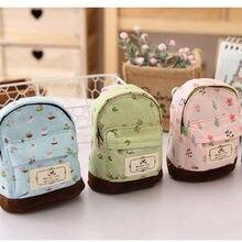 Flowers Student Pencil case Purse Children Pouch Case Storage Box Makeup Bag Cosmetic Wash Case 4 colors