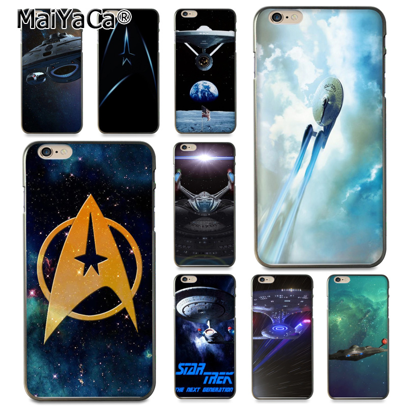 online store fbf7c 893f4 US $1.47 26% OFF|MaiYaCa Star Trek Coque Shell Phone Case for Apple iPhone  8 7 6 6S Plus X 5 5S SE 5C Cover-in Half-wrapped Case from Cellphones & ...