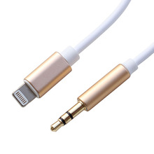 1M Lighting 8 Pin to stereo 3.5mm Male AUX Audio Cable for iPhone 7 7plus Car Phone Headphone Earphone