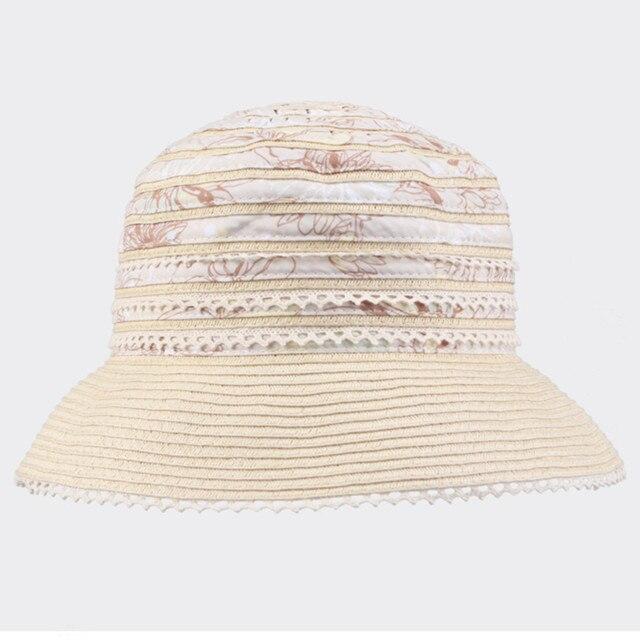 Бесплатная Доставка Kenmont Шлема Ведра Boonie Лето Женщины 100% Хлопок Открытый Sun Beach Бежевый Cap 0599