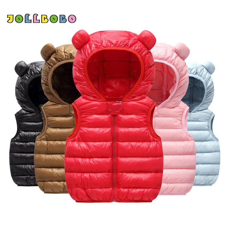 Vest Jacket Baby Winter Girl Warm with Hood Coat Outerwear Spring Toddler Kids Sleeveless