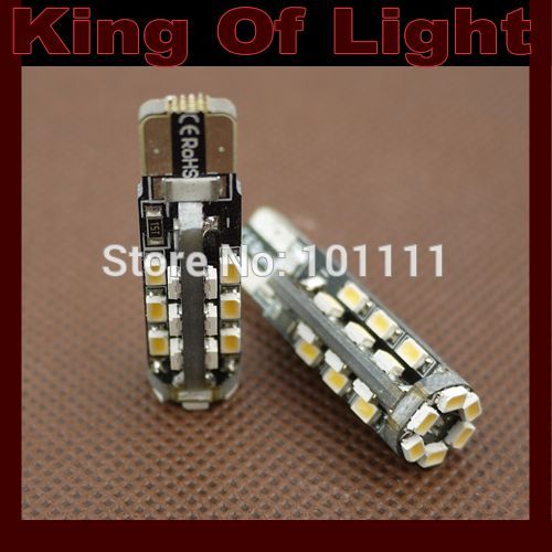 10x canbus Car led 194 W5W 30smd T10 30 leds smd 3014 3020 canbus obc error free no error LED Light Bulb Lamp Free shipping
