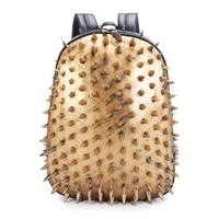 Personalized design Backpack,Large capacity backpacks,Creative schoolbag,Studded hedgehog double shoulderbag,Computer backbag